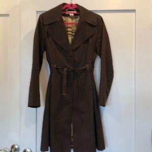 Via Spiga brown rain coat